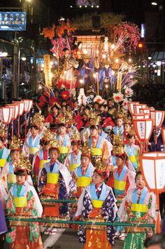 The Hanamaki Festival Japan  (The Hanamaki Festival has more than four centuries of history.)