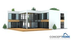 Contemporary House Design with really big windows.