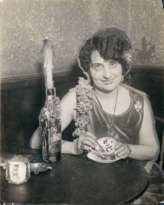 1928 Detroit Michigan a Fortune Teller in a Restaurant