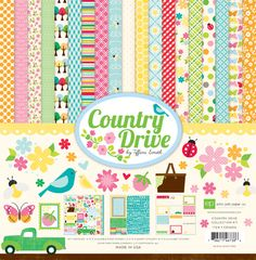 "Echo Park 12""x12"" Scrapbook Paper Kit - Country Drive"