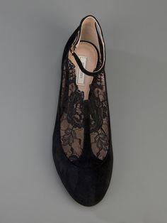 Nina Ricci Lace Detail Pump - Liska - farfetch.com