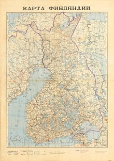 December 1939. Map of the Finnish Democratic Republic made by Military Topographic Department of the General Staff of the Workers' and Peasants' Red Army