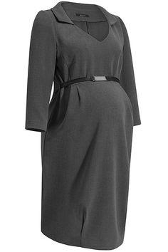 Elegantní těhotenské šaty s páskem šedé barvy Dresses For Work, Fashion, Moda, Fashion Styles, Fashion Illustrations