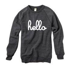 Fab.com | Hello Pullover Unisex Gray