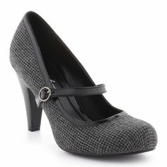 Escarpins gris et noir - La Halle