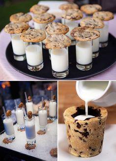 Unique Wedding Dessert   Cookies and Milk    2017 Wedding Trends   St. Augustine Wedding Venue   Treasury on the Plaza