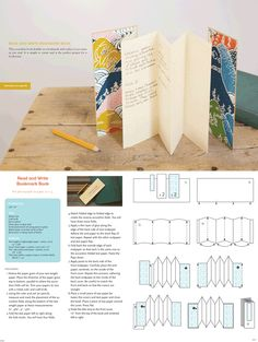 Bookmark Book project from At Home with Handmade Books