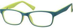 Kids' Green Rectangular Eyeglasses