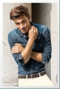 Casual medium hairstyle for men. Hair styling product that would work well is Pucka Grooming Creme