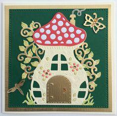 House Cards, Mushroom House, Baby Cards, Advent Calendar, Card Ideas, Holiday Decor, Sweet, How To Make, Diy