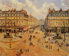 Avenue de l'Opera Morning Sunshine - Camille Pissarro