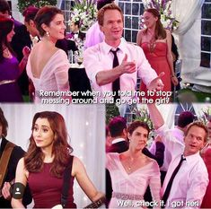 Himym how I met your mother Barney meets the mother with Robin