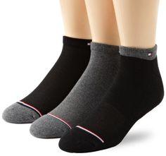 Tommy Hilfiger Men's 3 Pack Target Cushion Fashion Ped Socks, Black/Charcoal, 7-12 Tommy Hilfiger. $14.99