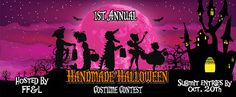 Stitch-It-Up: 1st Annual Handmade Halloween Costume Contest!  Lots of prizes to give away for sewing up your own Halloween costume using one of the nearly 900 patterns we have on our website (www.fairytalefrocksandlollipops.com)  Submit entries by October 30th!!!