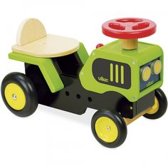 This fantastic ride on wooden tractor from French toy maker Vilac is the ideal first vehicle for little farmers! Arty Toys, Tractors For Kids, Bobby Car, Rocking Horse Toy, Baby Bike, Pull Toy, Ride On Toys, Toy Craft, Toys Shop