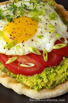 Anyone up for breakfast - this is a favorite at our house but we eat it for lunch too! Avocado Breakfast Flatbreads