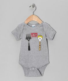 Take a look at this Athletic Heather 'Spork I Am Your Father' Bodysuit - Infant by David & Goliath on #zulily today!