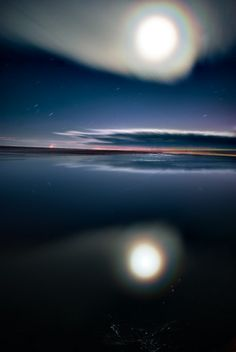 """Rainbow Moon, Val West """"Lunar Eclipse melting into the Ocean…"""" _____________________________ Reposted by Dr. Veronica Lee, DNP (Depew/Buffalo, NY, US)"""