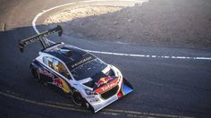 Sebastien Loeb fastest in first Pikes Peak timed practice. The Peugeot 208 T16 Pikes Peak car proves fast right out of the box.