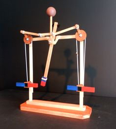 Woodworking Toys, Woodworking Projects, Kinetic Toys, Airplane Crafts, Wooden Gears, Cardboard Sculpture, Perpetual Motion, Force And Motion, Diy Furniture Easy