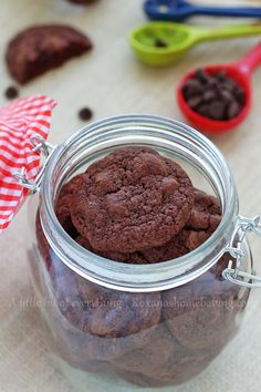 Triple chocolate brownie cookies - Soft, rich and fudgy with just the right amount of sweetness and addictive! It's just like eating a brown...