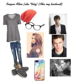 """""""Loving Keegan Allen <3"""" by rainbow22xd ❤ liked on Polyvore featuring T By Alexander Wang, TOMS, Witchery and Zero Gravity"""