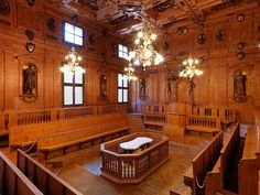Anatomical Theatre, University of Bologna. Built in 1637