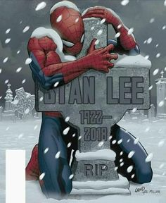 Legendary Marvel Comics co-creator Stan Lee — famous for giving the world beloved superheroes including Spider-Man, Iron Man and the Incredible Hulk — died Monday. He was According to TMZ, Lee suffered a number of illnesses over the last year Marvel Avengers, Marvel Memes, Marvel Fan, Stan Lee Died, Comic Kunst, Comic Art, Image Manga, Bd Comics, Marvel Comics Art
