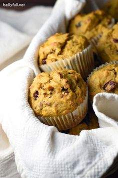 Pumpkin Cranberry Muffins with Pecans are great for breakfast or as a side at…
