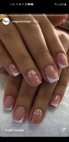 French Manicure Nail Designs, Gel Nail Art Designs, French Nails, Simple Acrylic Nails, Pink Acrylic Nails, Work Nails, Short Gel Nails, Sassy Nails, Pretty Nail Art