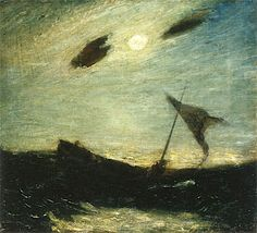 Moonlight Albert Pinkham Ryder - circa 1887