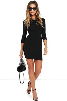 For long days when you need loved ones close by, the Comeback Baby Black Dress couldn't be better. This long sleeve number is the softest and most comfortable knit dress ever!