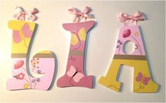 HandPainted Nursery Letters Cocalo Maeberry by RachelRaeDesigns, $18.00
