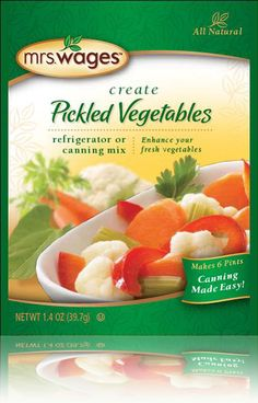 Mrs. Wages® Pickled Vegetables Refrigerator or Canning Mix 1.44 oz. (40.83 g)