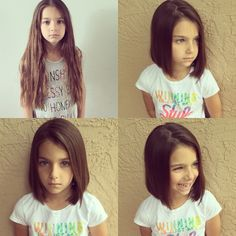 Little Girl Lob So Excited To Donate Pantene Beautiful Lengths Kids HaircutsKid