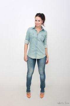 look do dia   ootd   dica de moda   inspiração de moda   fashion   blog de moda   juliana goes   jeans   tie dye   como usar camisa jeans   santa lolla