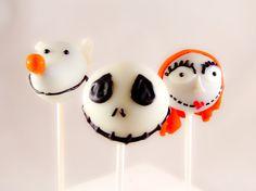 Nightmare Before Christmas Inspired Cake Pops by SoSweetPops, $27.00