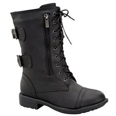 Top Moda Pack-72 Women's Military Lace up Boots >>> Click image to review more details.
