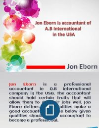 Get tips to become an accountant from Jon Eborn