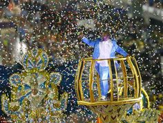 Brazilian singer Martinho da Vila parades with Vila Isabel - his compositions feature as p...