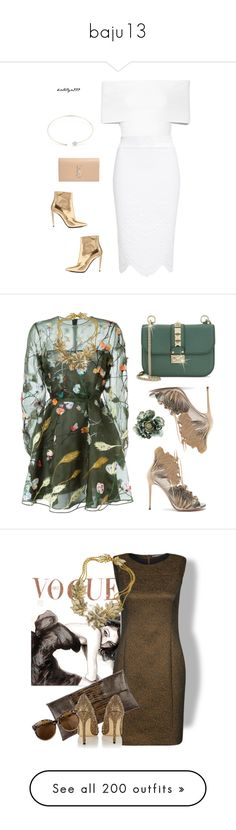 """baju13"" by mutiara08 ❤ liked on Polyvore featuring Rosetta Getty, Alexander McQueen, mizuki, Yves Saint Laurent, Balenciaga, Valentino, Casadei, Miriam Haskell, Tiger of Sweden and Jil Sander"