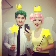 Ok who is going to do this with me for halloween :))Cosmo & Wanda from The Fairly Odd Parents show.