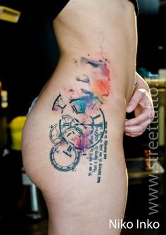 Part of a poem by William Blake in this creative tattoo by Niko Inko.