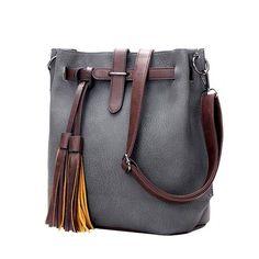 2016 HOT SaleNew Women PU Leather Handbags for Woman Fashion Designer Black Bucket Vintage Shoulder Bags Women Messenger Bag