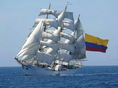 "A tall ship is a large traditionally-rigged sailing vessel. ""Tall ship"" is a general term. Tall ships are categorized based on the number of masts & the cut of Fleet Week, Old Sailing Ships, South American Countries, Old Boats, The Beautiful Country, Tall Ships, Water Crafts, Amsterdam, Nautical"