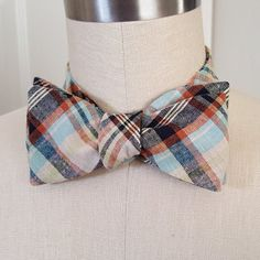 Linen self-tie bow tie. by BabyAndMommaBoutique on Etsy