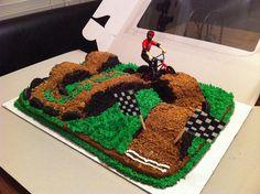 Dirt Bike Birthday Party Cake Motocross 62 New Ideas Motorcross Cake, Bolo Motocross, Bmx Cake, Bicycle Party, Bicycle Cake, Dirt Bike Party, Bike Birthday Parties, Dirt Bike Birthday, Themed Birthday Cakes
