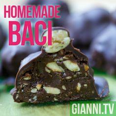 Baci: Make Chocolate Hazelnut Valentine Kisses and add a love note too.