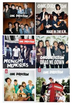 """""""One direction albums"""" by pinki123456 ❤ liked on Polyvore"""