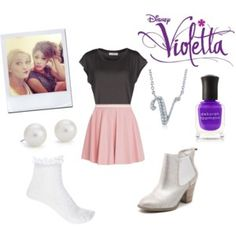 A fashion look from July 2015 featuring side slit t shirt, tennis socks and pink skirt. Browse and shop related looks. Violetta Outfits, Violetta Disney, Violetta And Leon, Closet Essentials, Forever New, Blue Nile, Fashion Looks, Fashion Tips, Cute Outfits